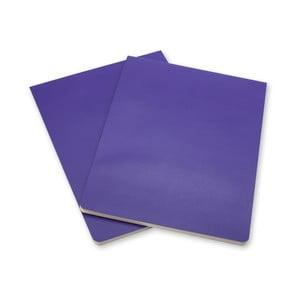 Sada 2 fialových blokov Moleskine Volant