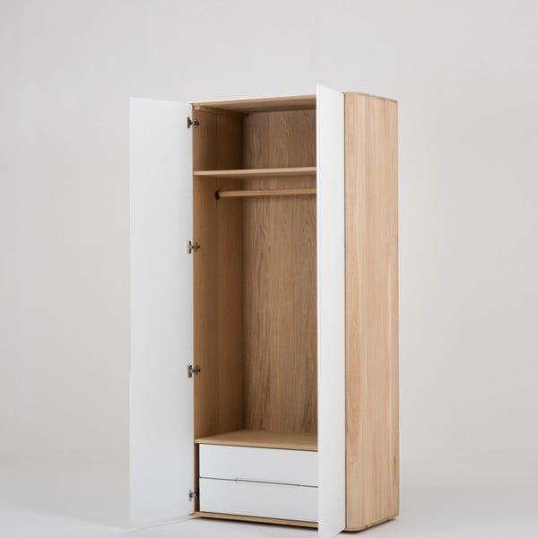Modulový diel skrine s konštrukciou z masívneho dubového dreva s 2 zásuvkami Gazzda Ena, pripevnenie vľavo