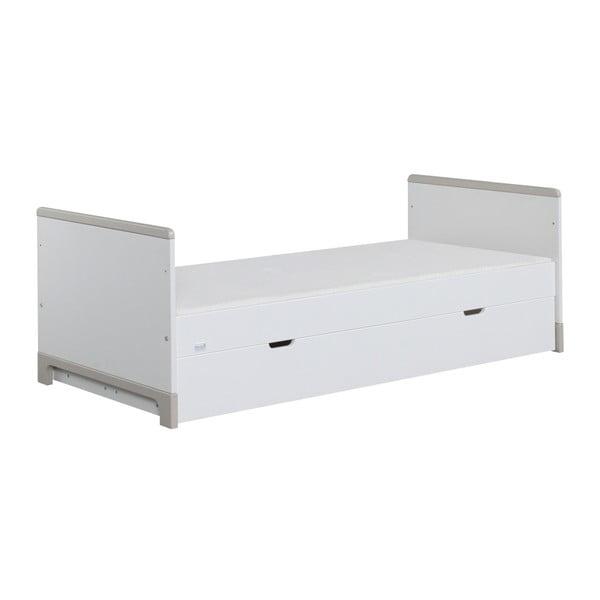 Bielo-sivá detská posteľ Pinio Mini, 160×70cm