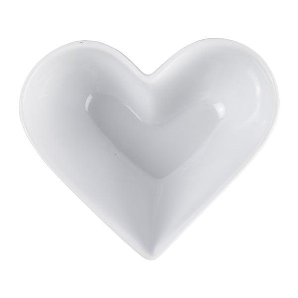 Malá zapekacia a servírovacia misa KJ Collection Heart, 250ml