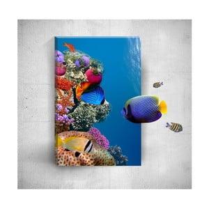 Nástenný 3D obraz Mosticx Underwater Fish, 40×60 cm