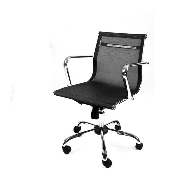 Pracovná stolička na kolieskach Leila, čierna