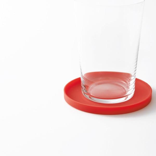 Červená podložka pod pohár Yamazaki Tower Round