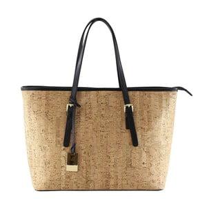 Čierna kožená kabelka Kim