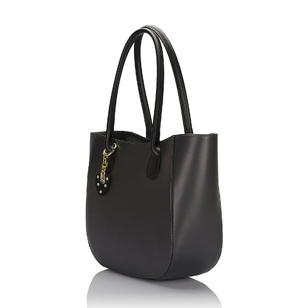 Kožená kabelka Giorgio Costa 15001 Black