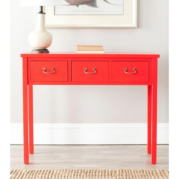 Červený odkladací konzolový stolík Safavieh Riley