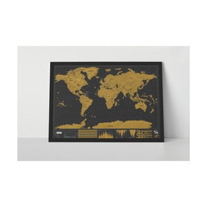 Zoškrabávacia mapa sveta Luckies of London Deluxe Edition XL