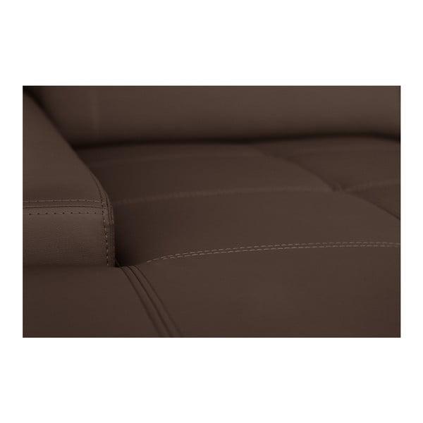 Čokoládovohnedá pohovka Modernist Cardigan, ľavý roh