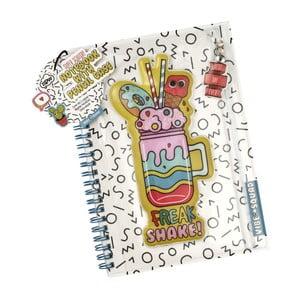 Zápisník s úložným priestorom na písacie potreby NPW Pencil Case Notebook
