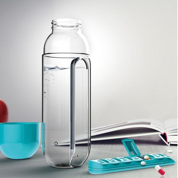 Fľaša so zásobníkom na lieky In Style Red