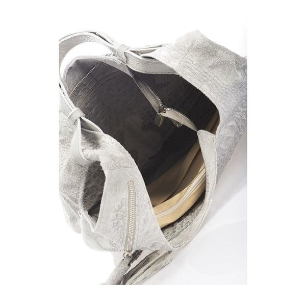 Sivá kožená kabelka Massimo Castelli Jamilyn