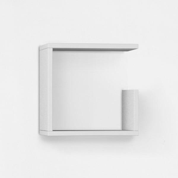 Nástenná polica Geo 34x34 cm, biela