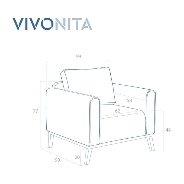 Tyrkysové kreslo Vivonita Milton