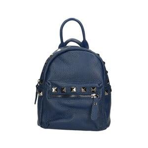 Modrý kožený batoh Roberto Buono Monica