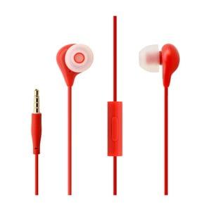 In-ear slúchadlá s mikrofónom FIXED EGG1, červené