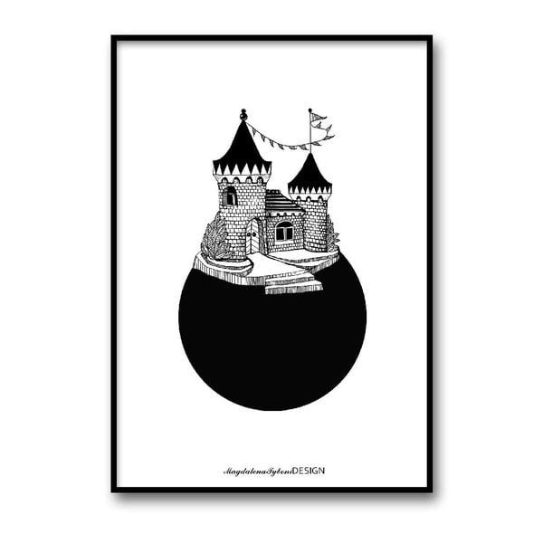 Autorský plagát Slottsplaneten, 30x40 cm