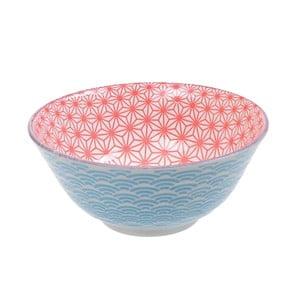 Modro-červená porcelánová miska Tokyo Design Studio Star, ⌀ 15,2 cm