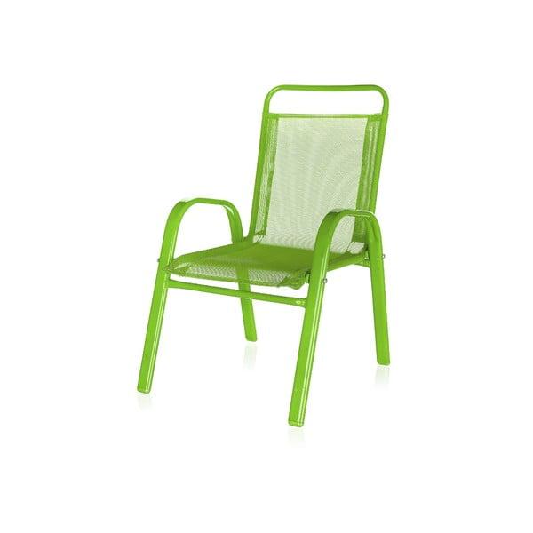 Detská záhradná stolička Kids, zelená