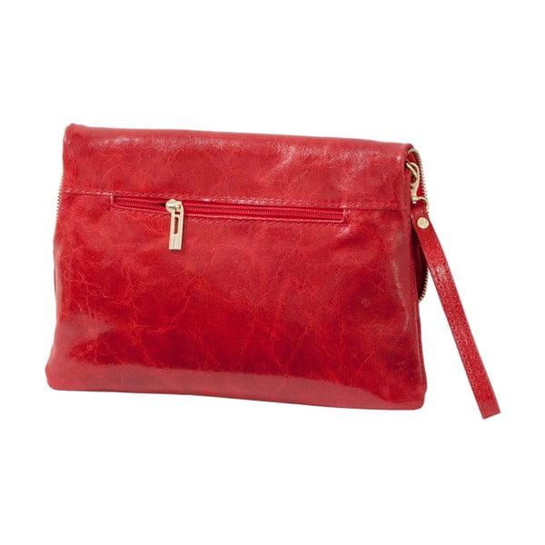 Červená kabelka z pravej kože Andrea Cardone Alessia