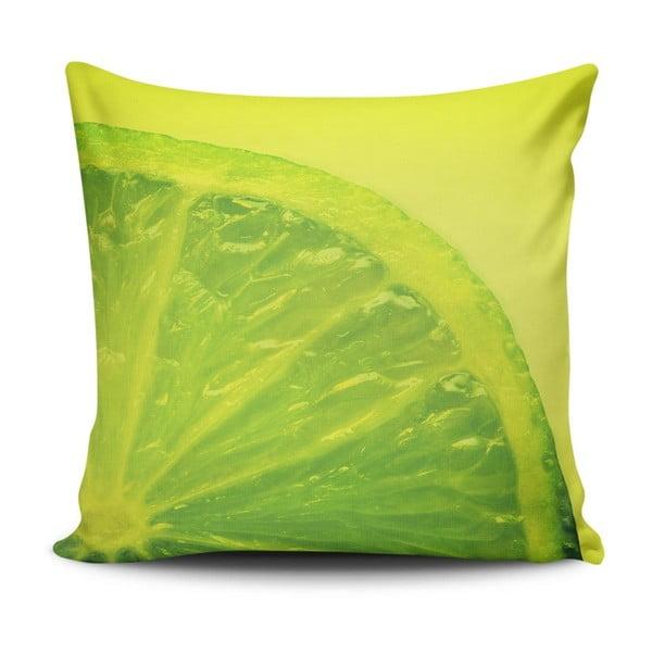 Vankúš s prímesou bavlny Cushion Love Verde, 45 × 45 cm