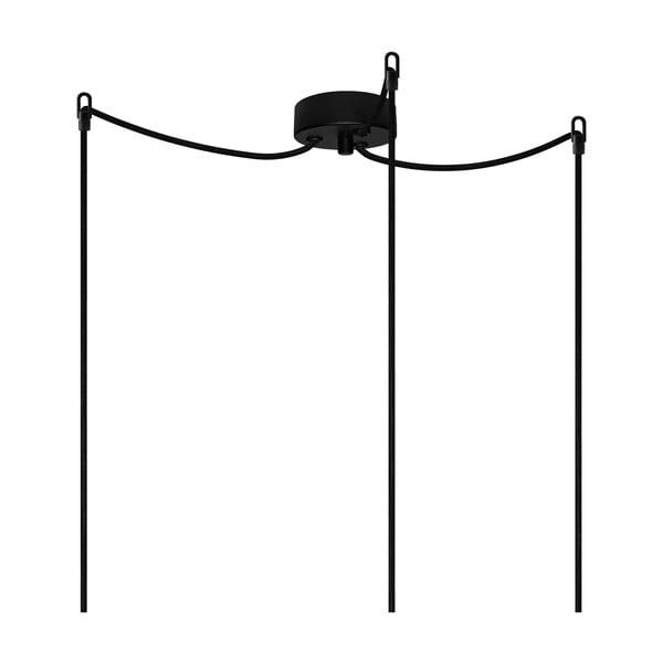 Tri závesné káble Cero, medená / čierna / čierna