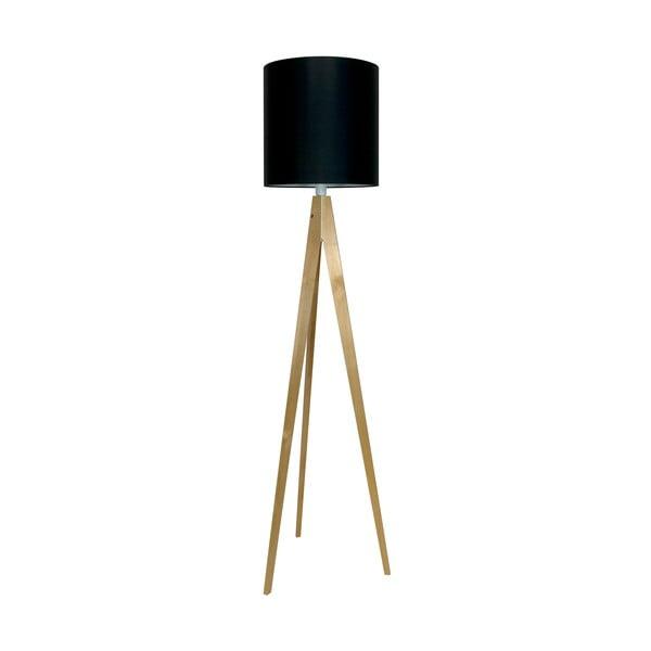 Stojacia lampa Artist Black/Birch, 125x33 cm