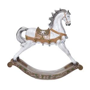 Keramický dekoratívny hojdací koník Ewax, výška 47,5 cm