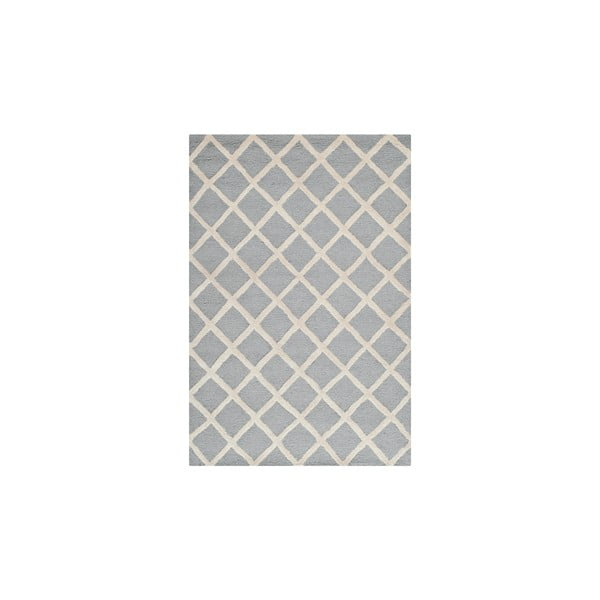 Vlnený koberec Sophie Light Blue Grey, 91x152 cm