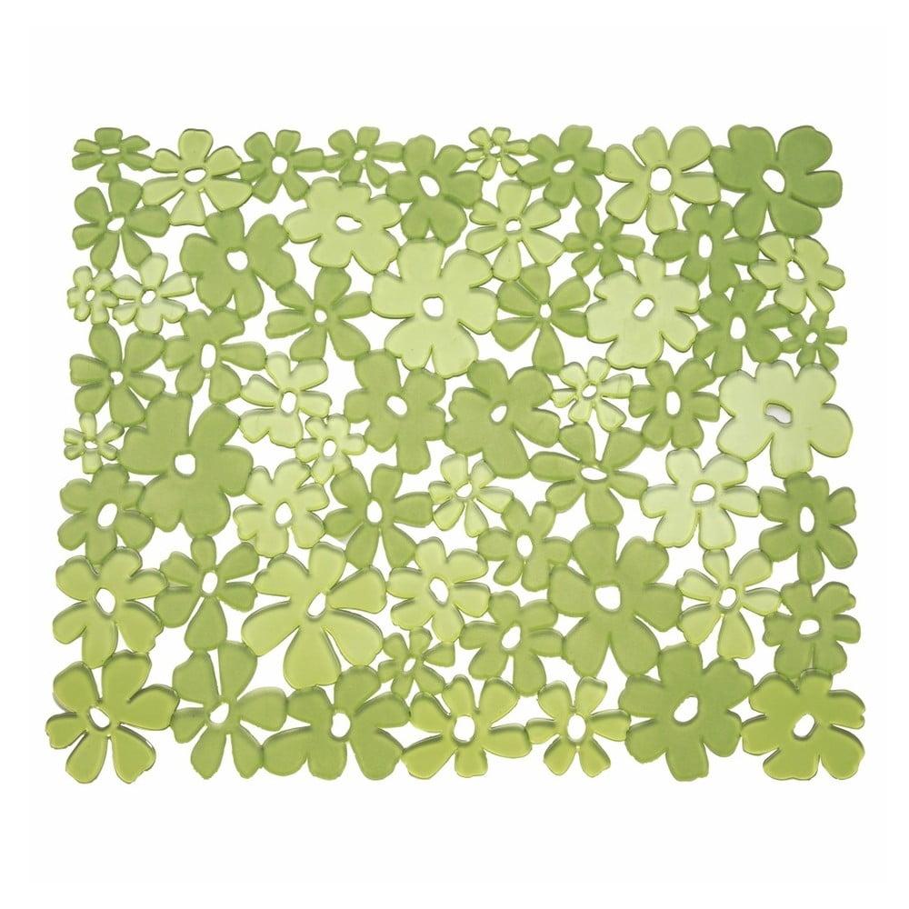 Zelená podložka do umývadla InterDesign Blumz