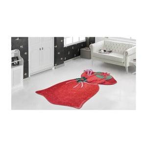 Červený koberec Vitaus Christmas Bag, 60×100 cm