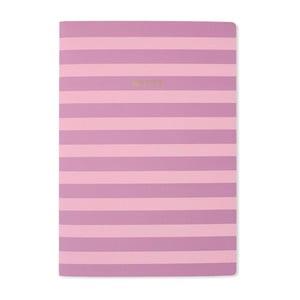 Zápisník A4 Go Stationery Lilac Stripe