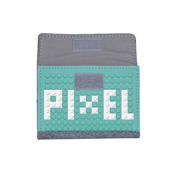 Pixelová peňaženka grey/aqua green