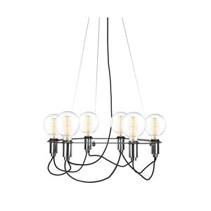 Čierne závesné svietidlo Globen Lighting Cables