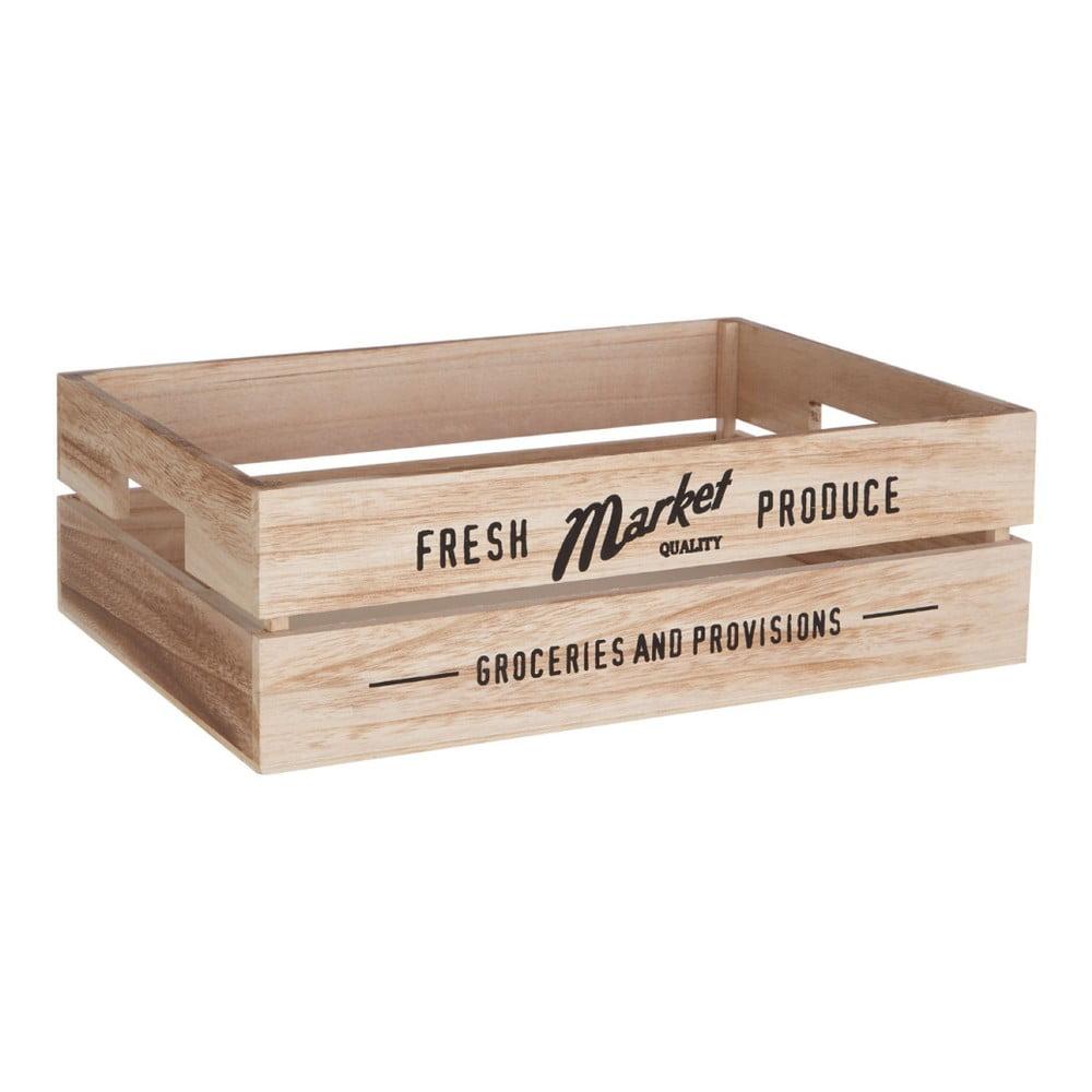 Drevený úložný box na zeleninu Premier Housewares Farmers Market, 28 × 38 cm