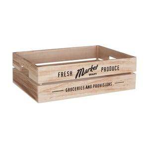 Drevený úložný box na zeleninu Premier Housewares Farmers Market, 28×38 cm