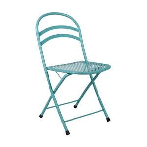 Bledomodrá skladacia stolička Crido Consulting Aqua