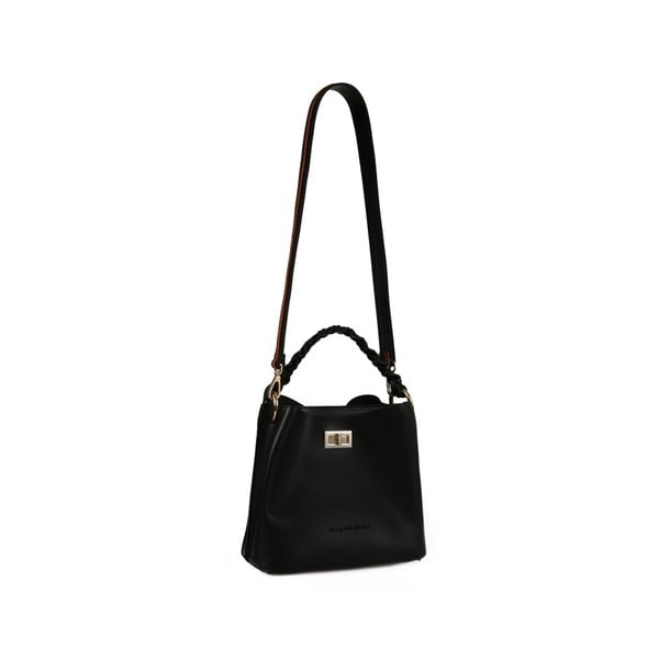 Čierna kožená kabelka Beverly Hills Polo Club Eliana