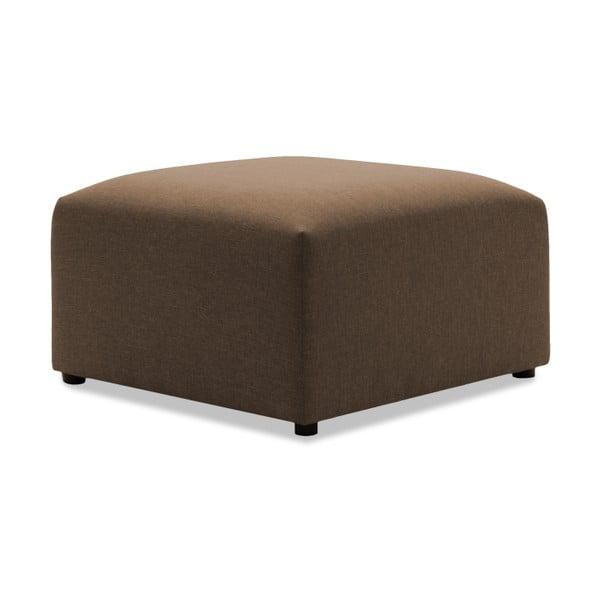 Tmavobéžová dvojmiestna pohovka s podnožkou VIVONITA Cube