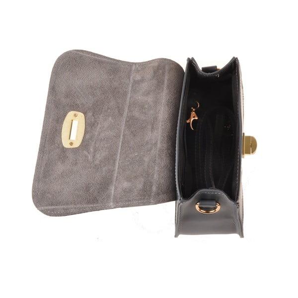 Kožená kabelka Flaux, šedá