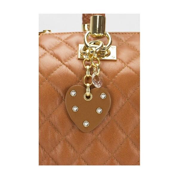 Kožená kabelka Giorgio Costa 15020 Cognac