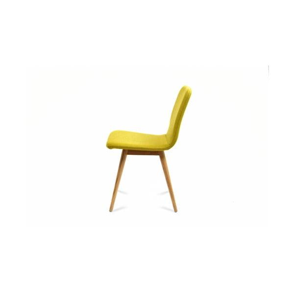 Žltá stolička z dubového dreva Gazzda Ena