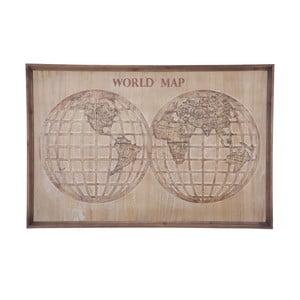 Nástenná dekorácia Mauro Ferretti World Map, 120 × 80 cm
