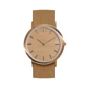 Drevené hodinky s hnedým remienkom Analog Watch Co. Classic