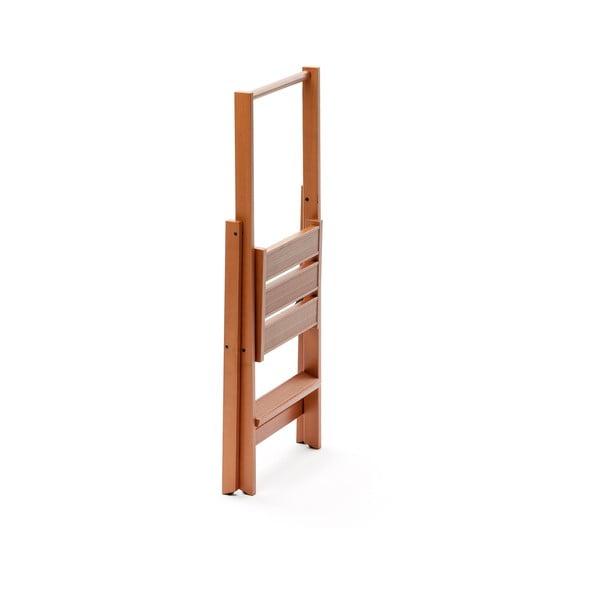Skladacie schodíky z bukového dreva Arredamenti Italia Kimmora, výška 94 cm