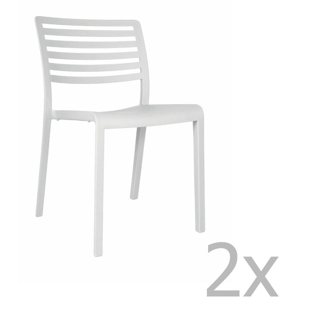 Sada 2 bielych záhradných stoličiek Resol Lama