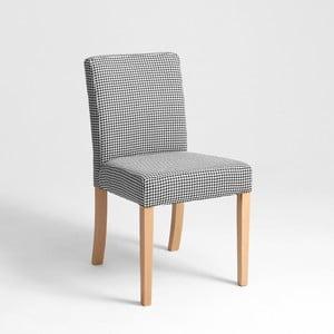 Čierno-biela stolička s prírodnými nohami Custom Form Wilton