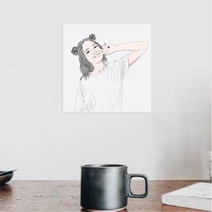 Nástenný samolepiaci obraz North Carolina Scandinavian Home Decors Girl V5, 30×30 cm