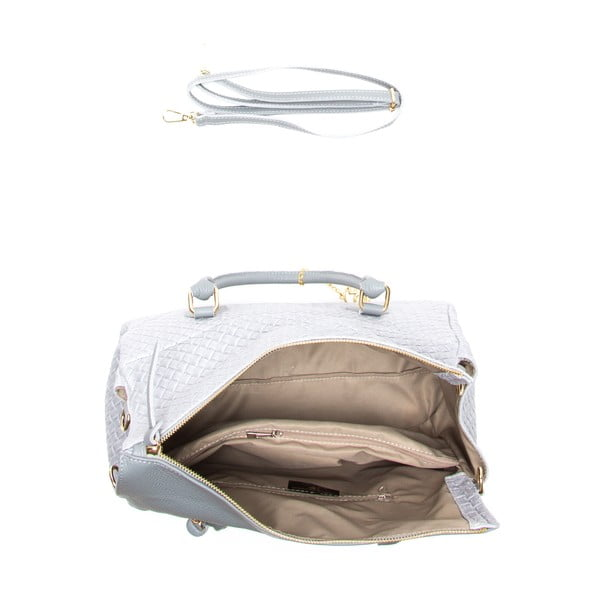 Kožená kabelka Carla, sivá