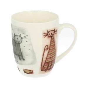 Porcelánový hrnček s motívom mačky Duo Gift, 320 ml