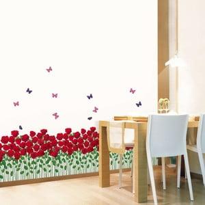Samolepka MaDéco Red Roses Garden